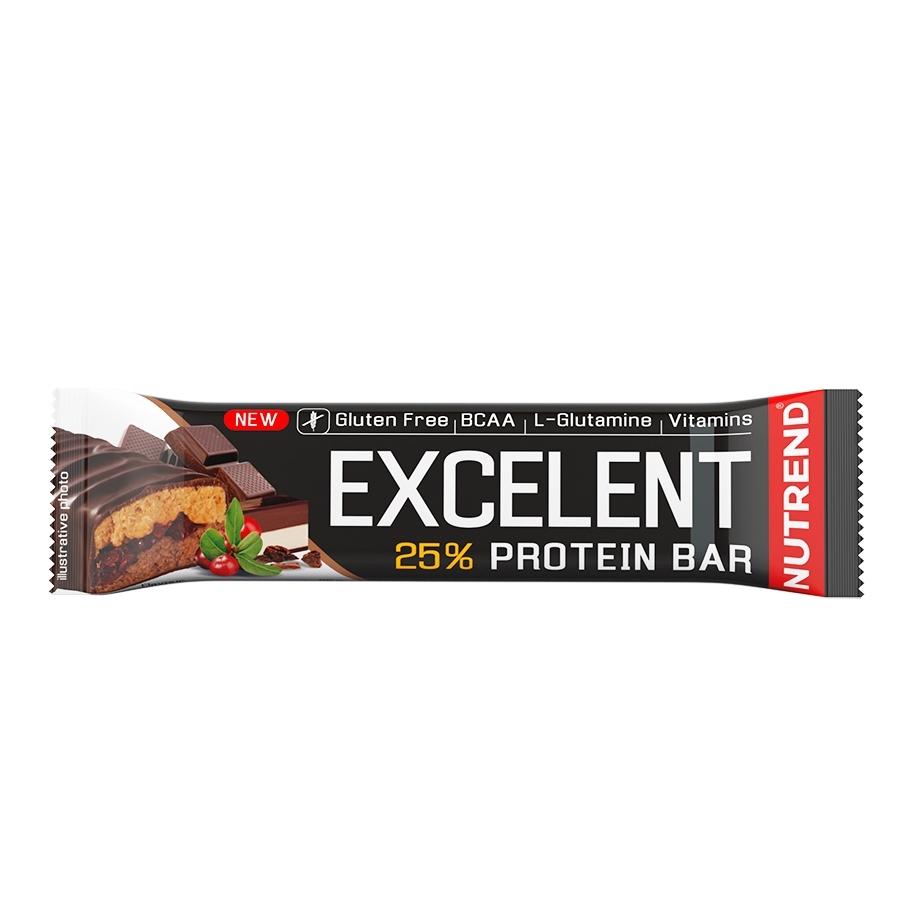 Proteinová tyčinka Nutrend Excelent Bar Double, 85 g čokoláda+nugát s brusinkami