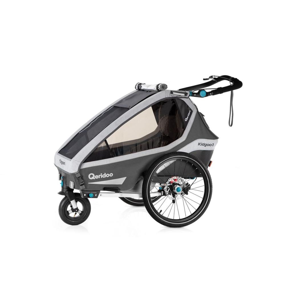 Multifunkční dětský vozík Qeridoo KidGoo 1 Sport  Anthracite Grey