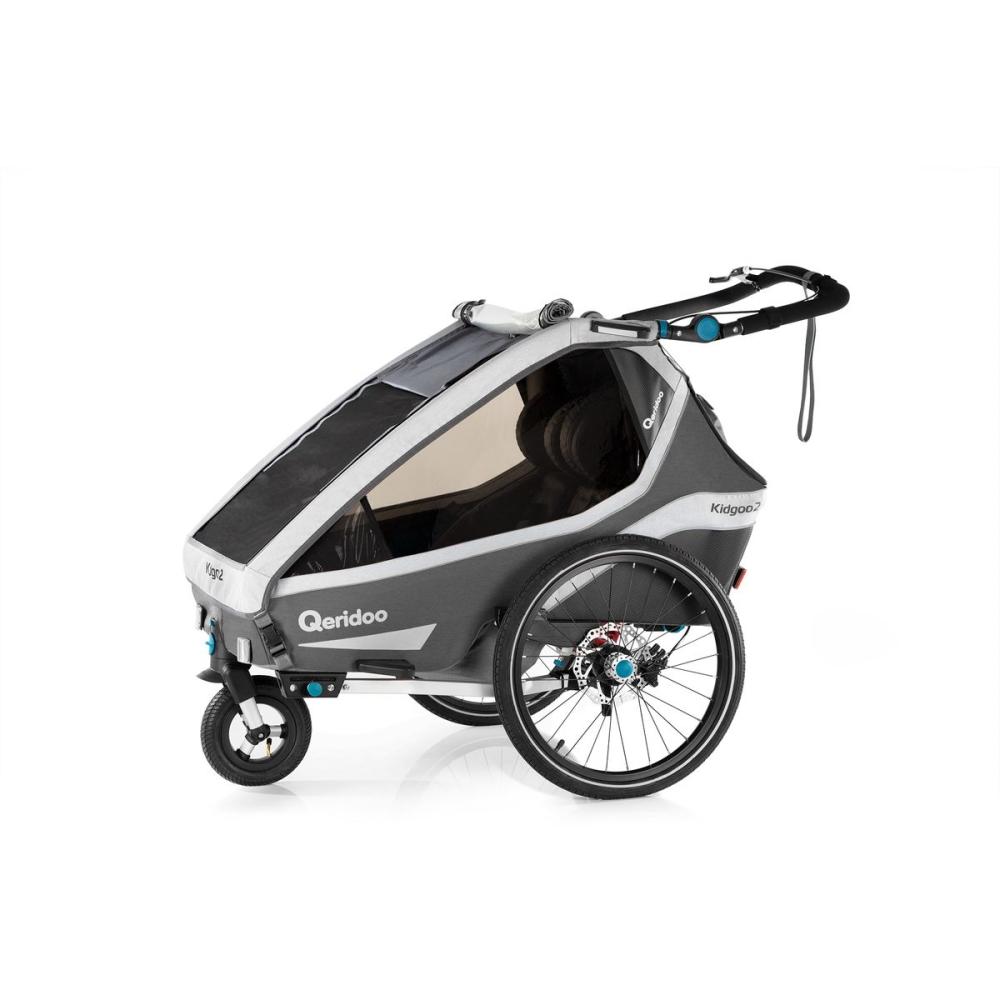 Multifunkční dětský vozík Qeridoo KidGoo 2 Sport  Anthracite Grey