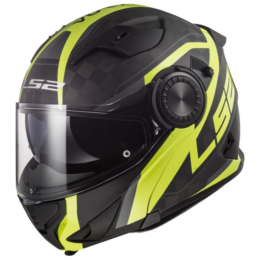 LS2 FF313 Vortex Carbon Hi Vis Yellow  S 5556