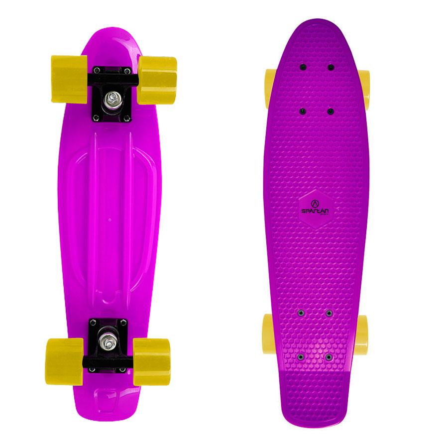 "Penny board Spartan Plastic 22,5"" fialová"