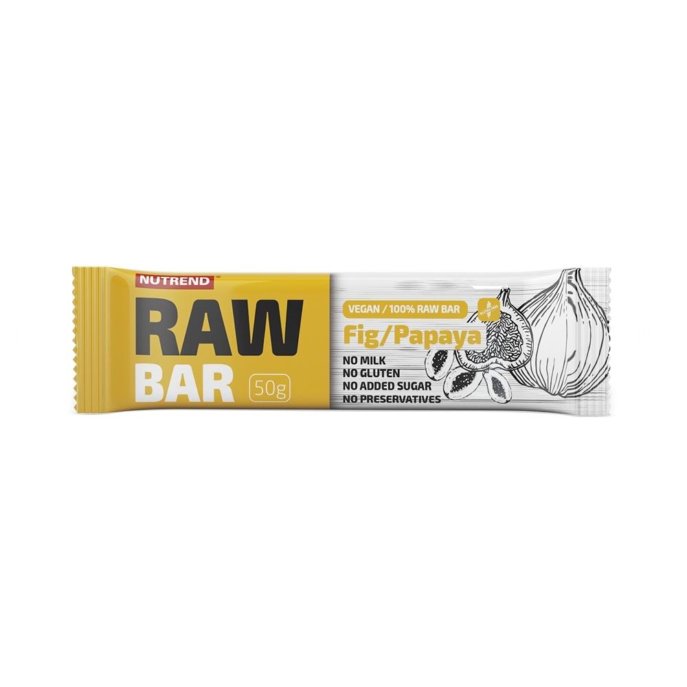 Tyčinka Nutrend Raw Bar 50 g fík+papája