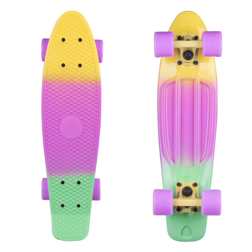 """Penny board Fish Classic 3Colors 22"""" Yellow+Summer Purple+Green-Yellow-Summer Purple"""
