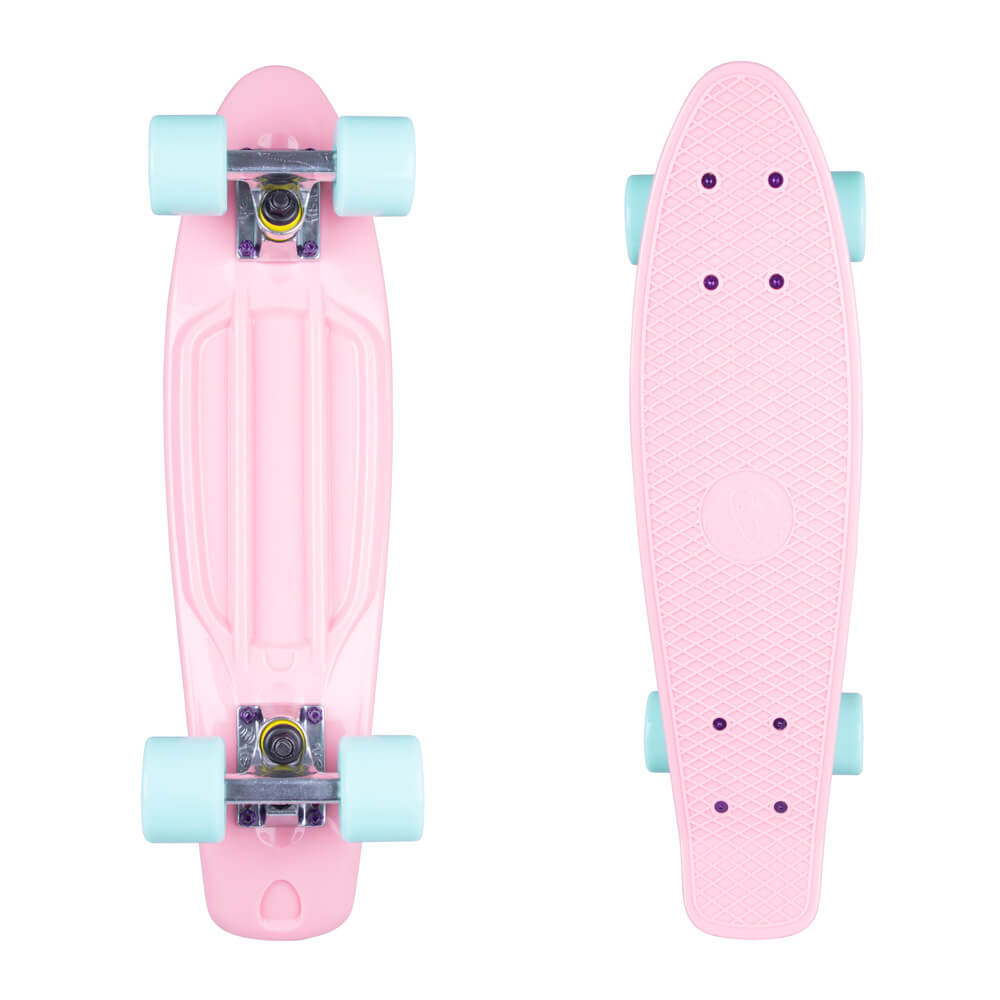"""Penny board Fish Classic 22"""" Pink-White-Summer Blue"""