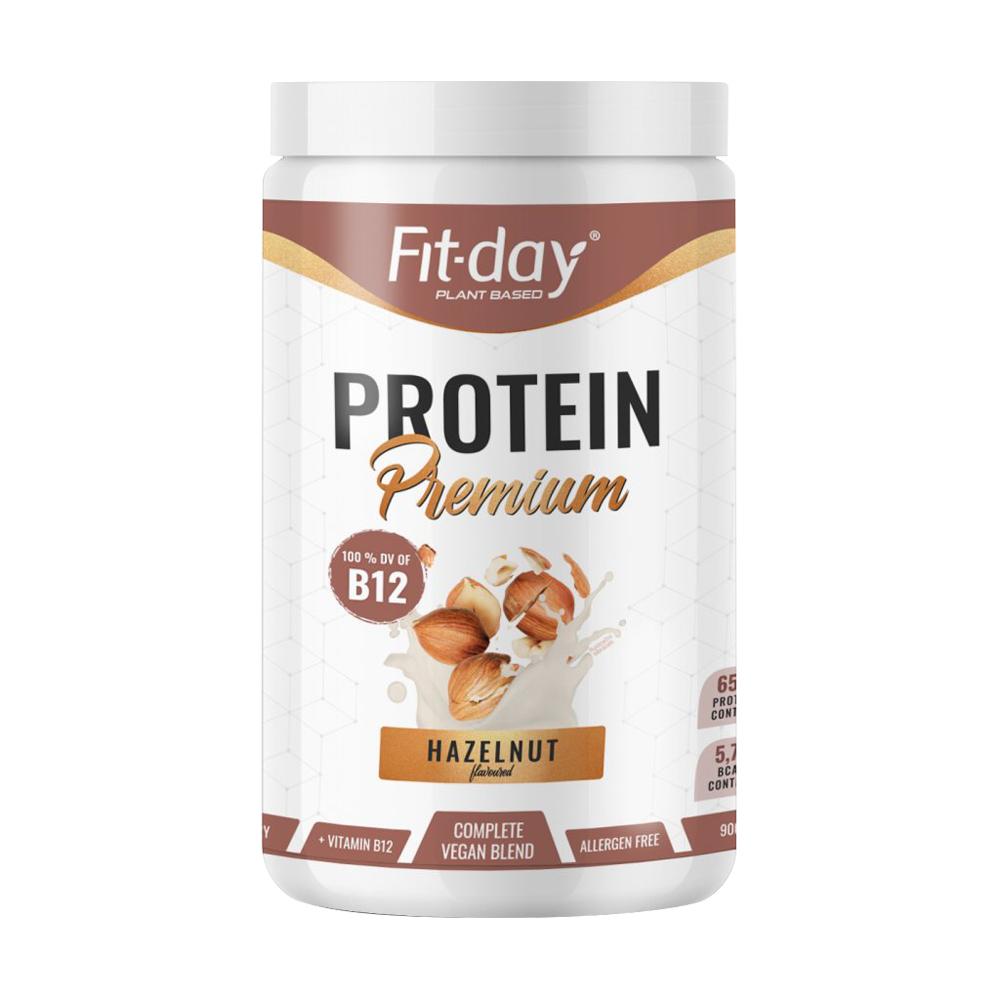 Proteinový Nápoj Fit-Day Protein Premium 900 G  Lískový Oříšek