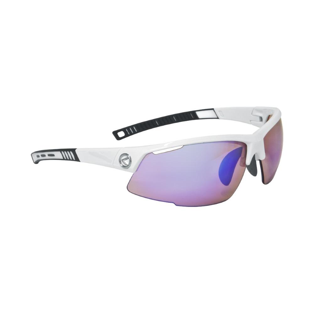 Cyklistické brýle KELLYS Force White Gloss, bílá s modrými duhovými skly