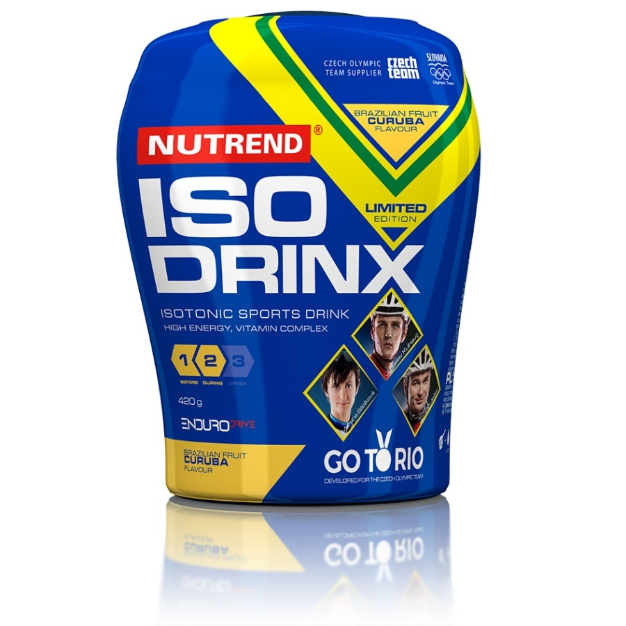 Isodrinx Nutrend 420 g + 12 tablet pomeranč (nápoj) + citron (tablety)
