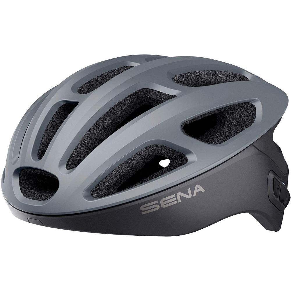 Cyklo přilba SENA R1 s integrovaným headsetem matná šedá - S (50-55)