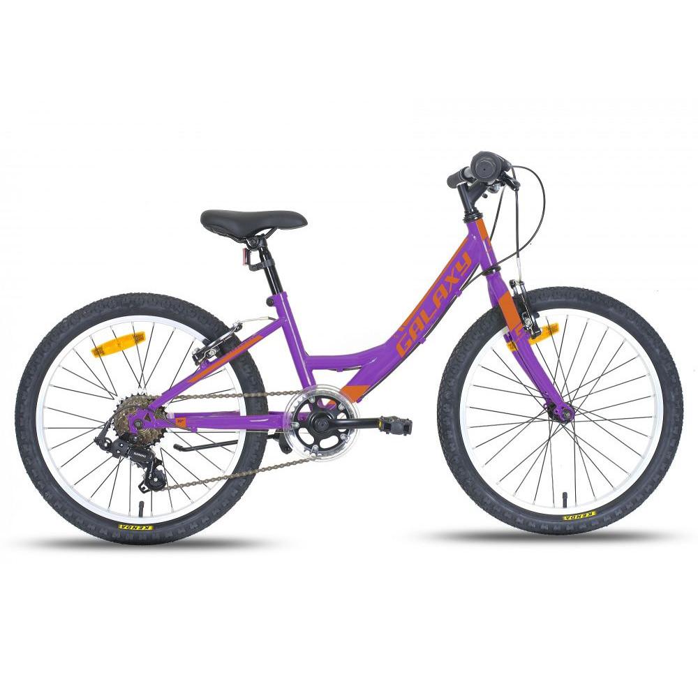 """Dětské dívčí kolo Galaxy Ida 20"""" - model 2018 fialovo-oranžová"""
