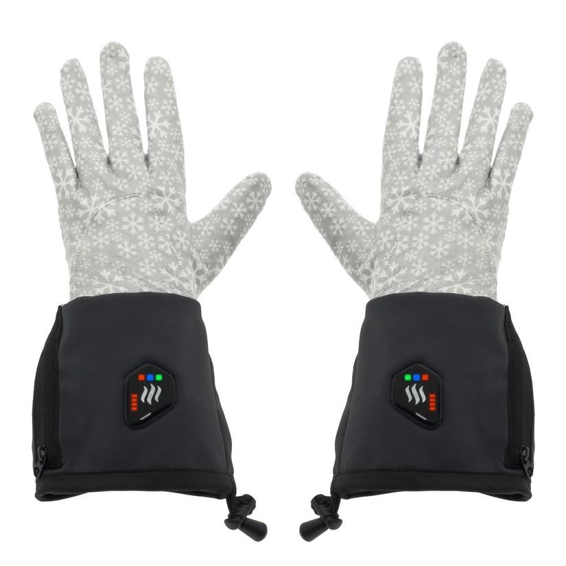 Univerzální vyhřívané rukavice Glovii GEG černo-šedá - L-XL