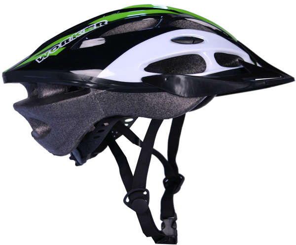 Cyklistická přilba WORKER Gladiator zelená - S (50-52)