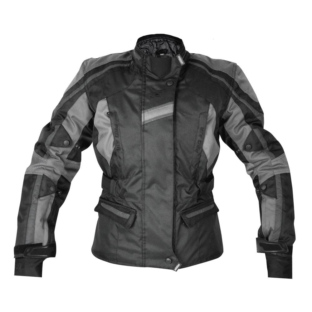 Dámská textilní bunda Rebelhorn GLAM černo-šedá - S