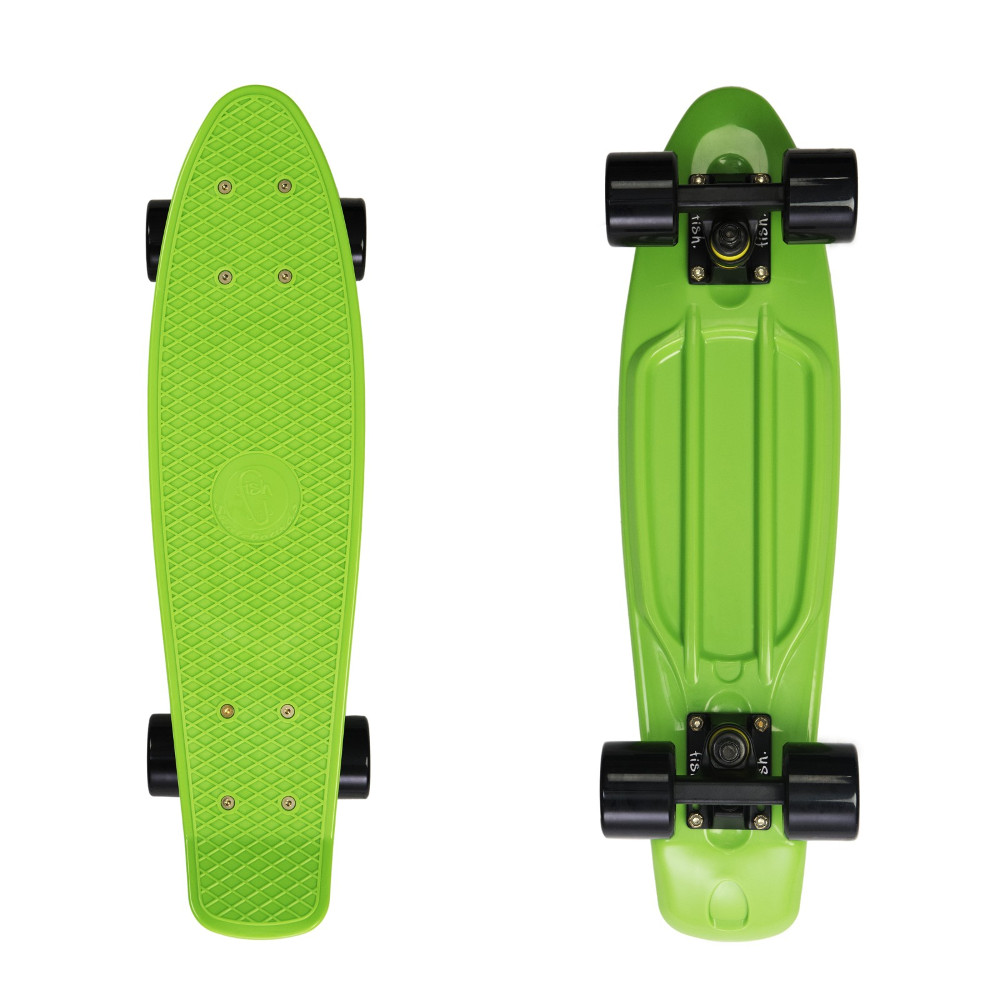 "Penny board Fish Classic 22"" Green-Black-Black"