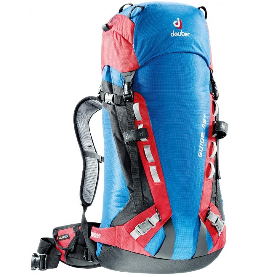 Horolezecký batoh DEUTER Guide 35+ 2016 modro-červená