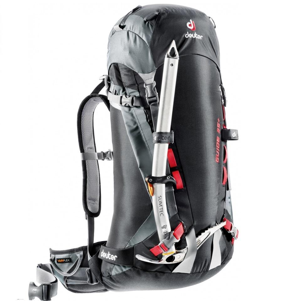 Horolezecký batoh DEUTER Guide 35+ 2016 černo-šedá