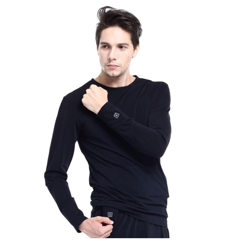 Vyhřívané tričko s dlouhým rukávem Glovii GJ1 černá - L