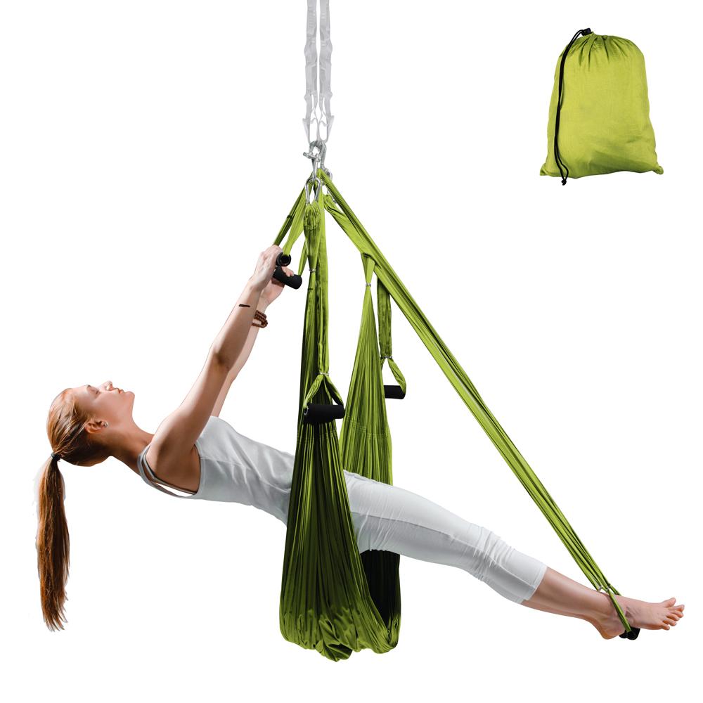 Popruhy na aero jógu inSPORTline Hemmok zelená