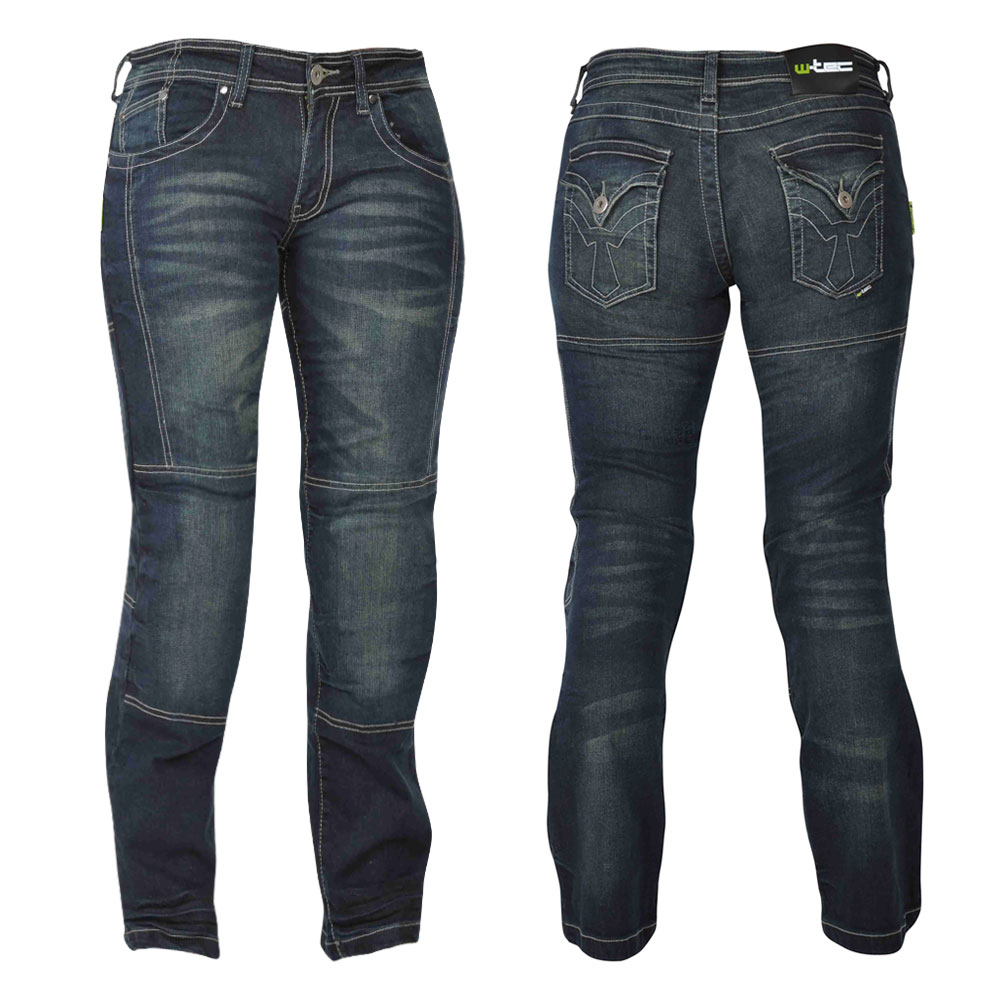 Dámské motocyklové jeansy W-TEC Alinna tmavě modrá - 10/XS