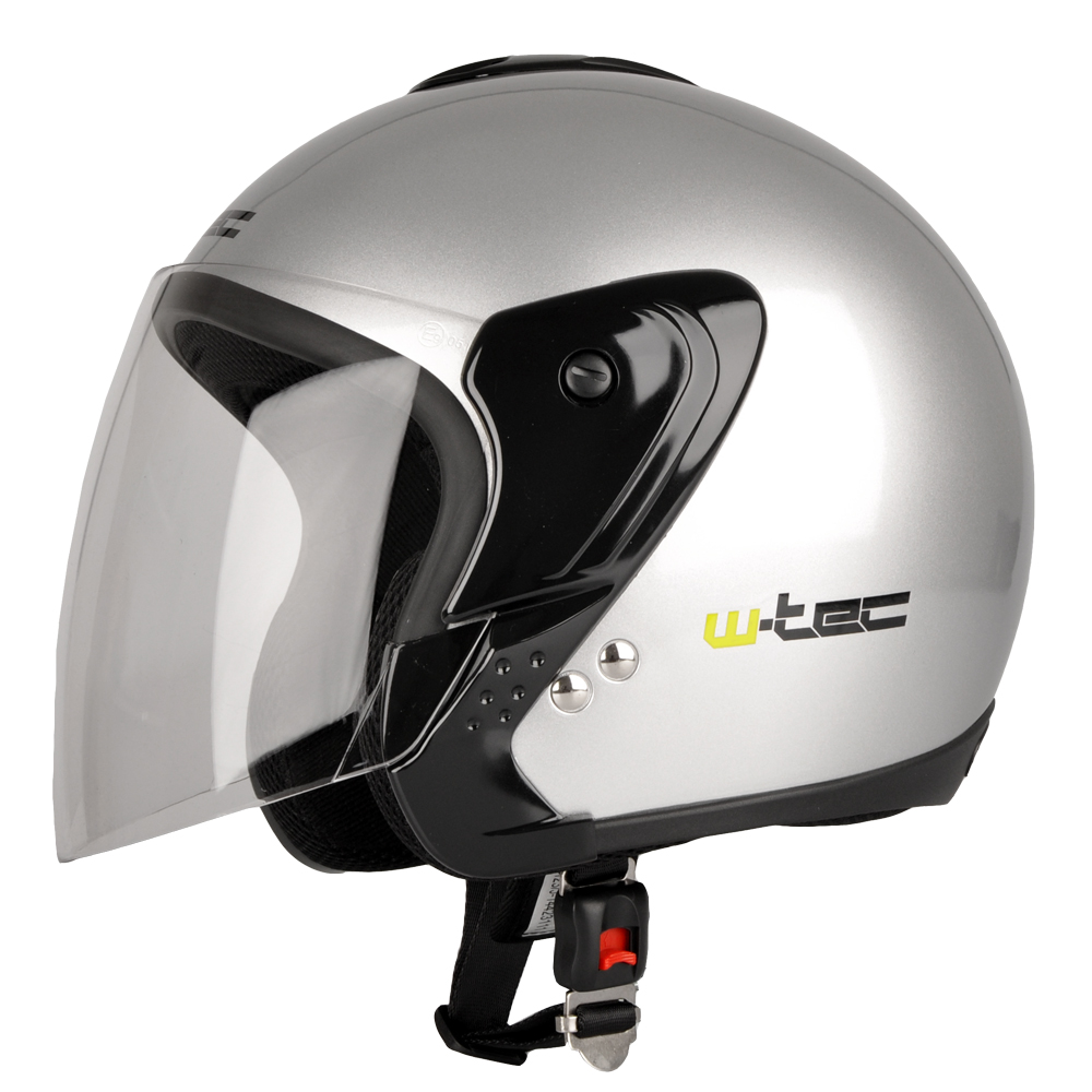 Moto přilba W-TEC MAX617 stříbrná - XS (53-54)