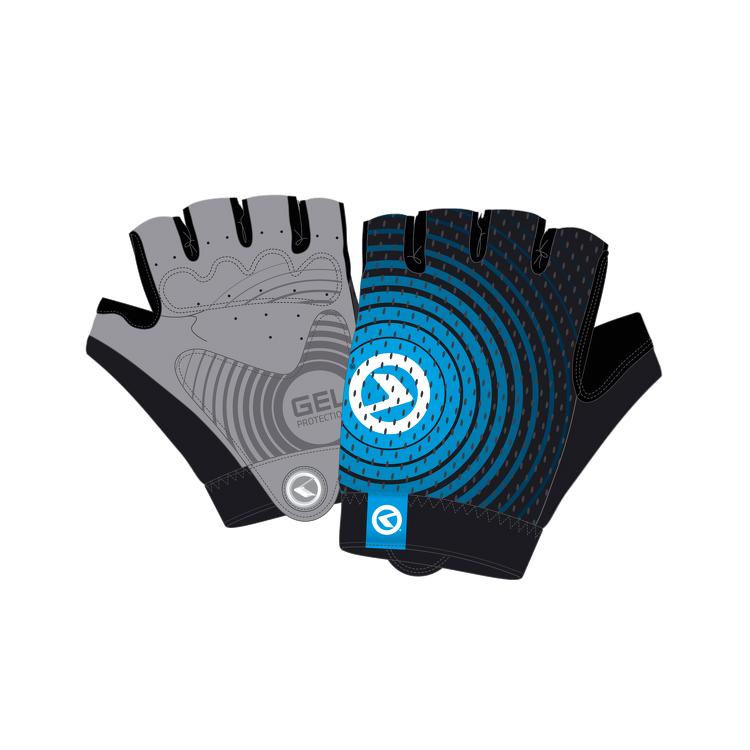 Cyklo rukavice Kellys Instinct Short černo-modrá - XS