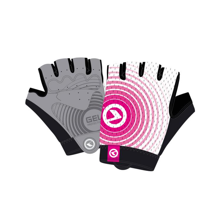 Cyklo rukavice Kellys Instinct Short bílo-růžová - XL