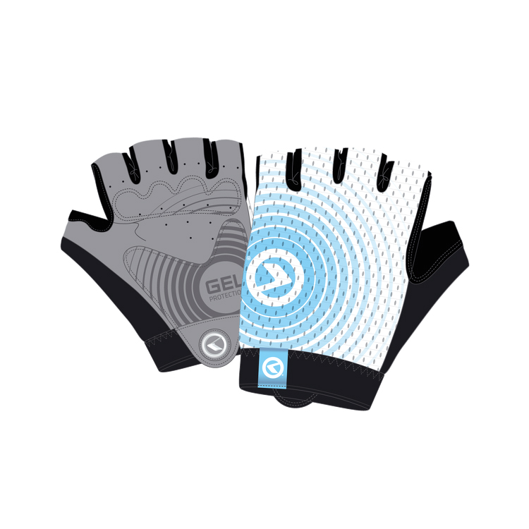Cyklo rukavice Kellys Instinct Short bílo-modrá - L