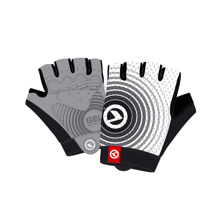 Cyklo rukavice Kellys Instinct Short bílo-černá - M