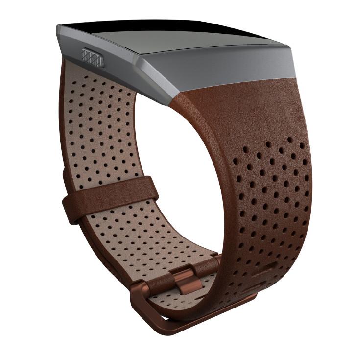 Náhradní řemínek Fitbit Ionic Leather Cognac L