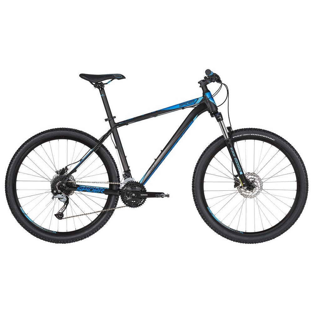 "Horské kolo KELLYS SPIDER 50 27,5"" - model 2019 Black Blue - M (19'') - Záruka 10 let"
