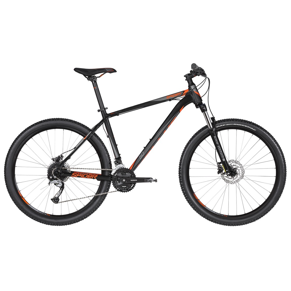"Horské kolo KELLYS SPIDER 50 27,5"" - model 2019 Black Orange - XS (15"") - Záruka 10 let"