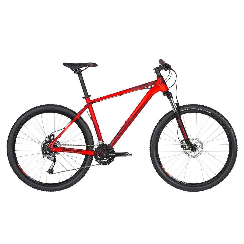 "Horské kolo KELLYS SPIDER 30 27,5"" - model 2019 Red - L (21'') - Záruka 10 let"