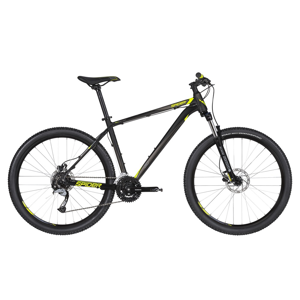 "Horské kolo KELLYS SPIDER 30 27,5"" - model 2019 Black - L (21'') - Záruka 10 let"