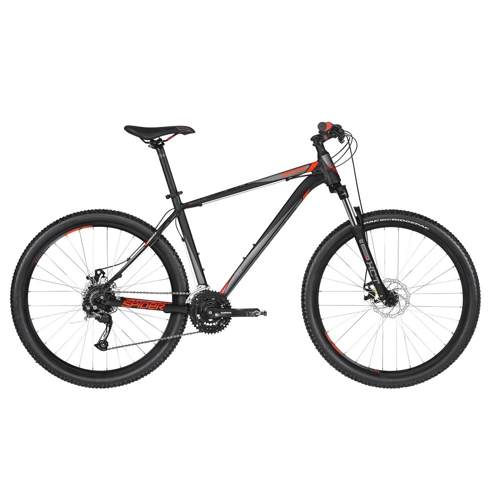 "Horské kolo KELLYS SPIDER 10 27,5"" - model 2019 Black - L (21'') - Záruka 10 let"