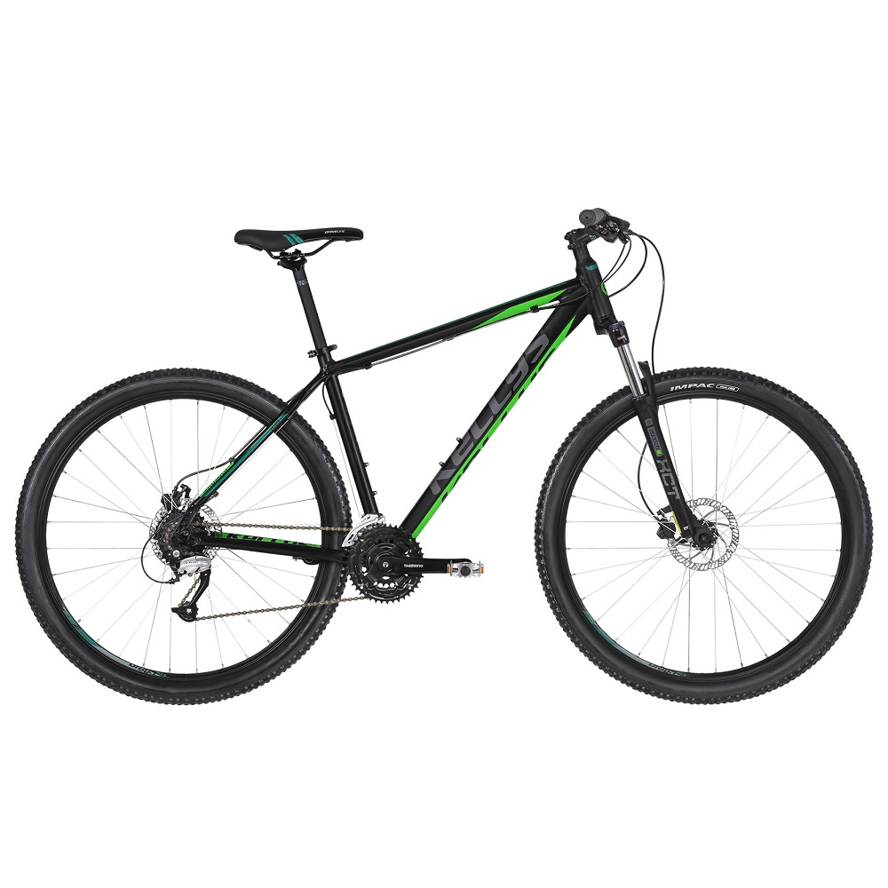 "Horské kolo KELLYS MADMAN 50 27,5"" - model 2019 Black Green - M (19'') - Záruka 10 let"