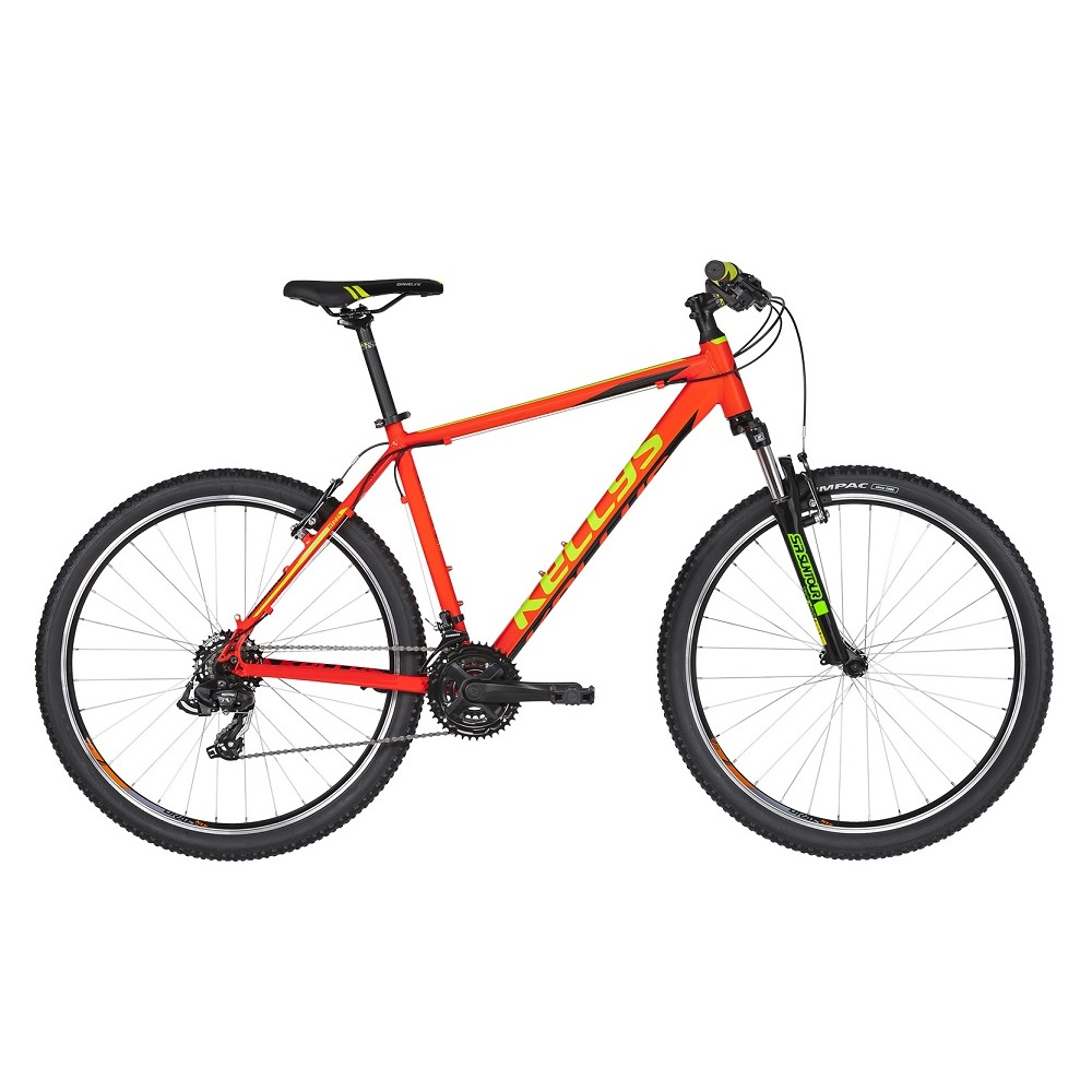 "Horské kolo KELLYS MADMAN 10 26"" - model 2019 Neon Orange - XS (15,5"") - Záruka 10 let"