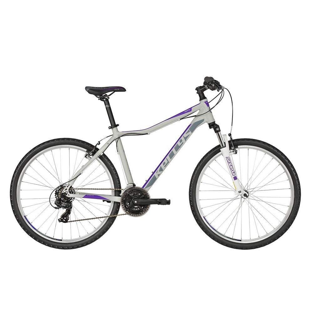 "Dámské horské kolo KELLYS VANITY 10 26"" - model 2019 Purple Grey - XS (13,5"") - Záruka 10 let"