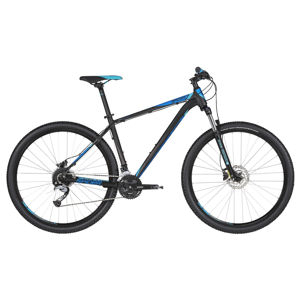 "Horské kolo KELLYS SPIDER 50 29"" - model 2019 Black Blue - M (19'') - Záruka 10 let"