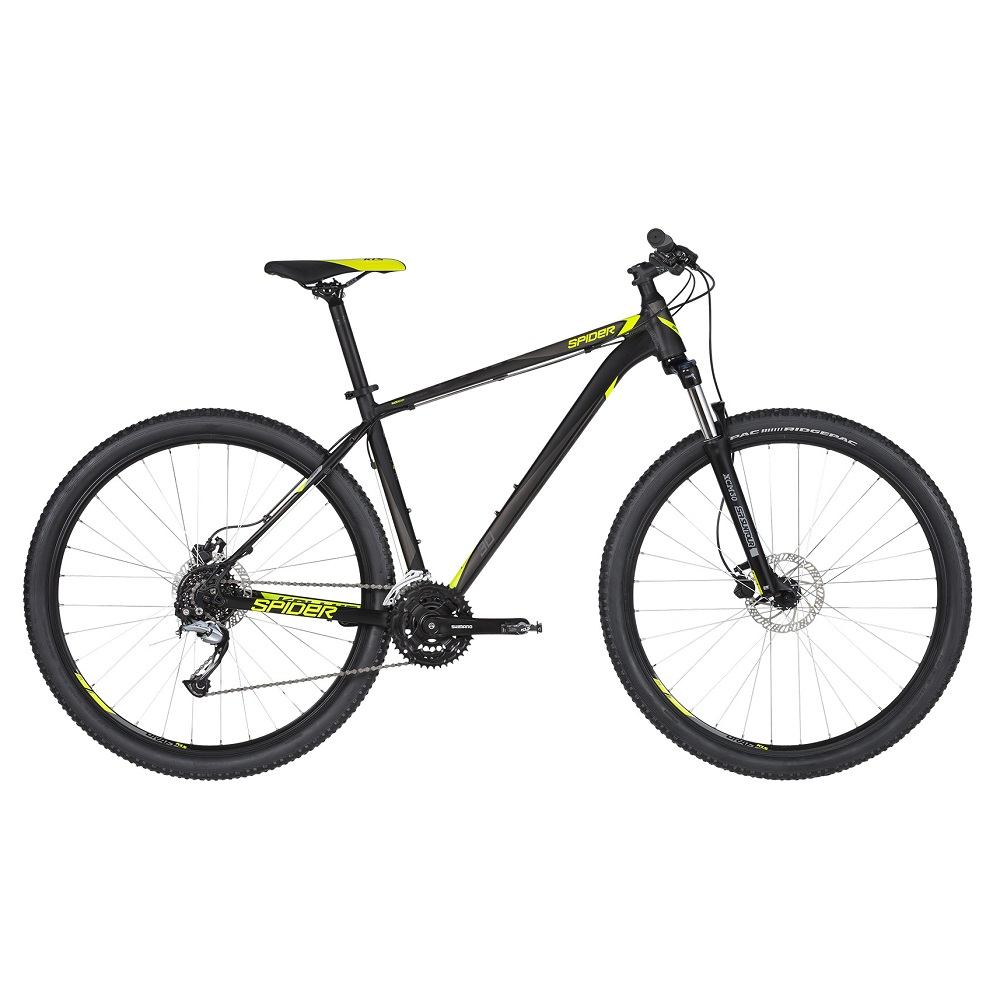 "Horské kolo KELLYS SPIDER 30 29"" - model 2019 Black - M (19'') - Záruka 10 let"
