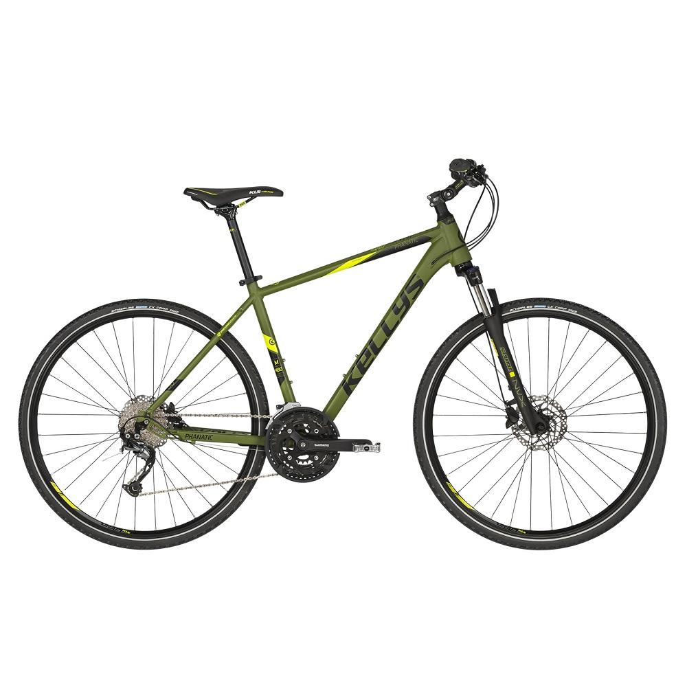 """Pánské crossové kolo KELLYS PHANATIC 30 28"""" - model 2019 Olive - S (17'') - Záruka 10 let"""