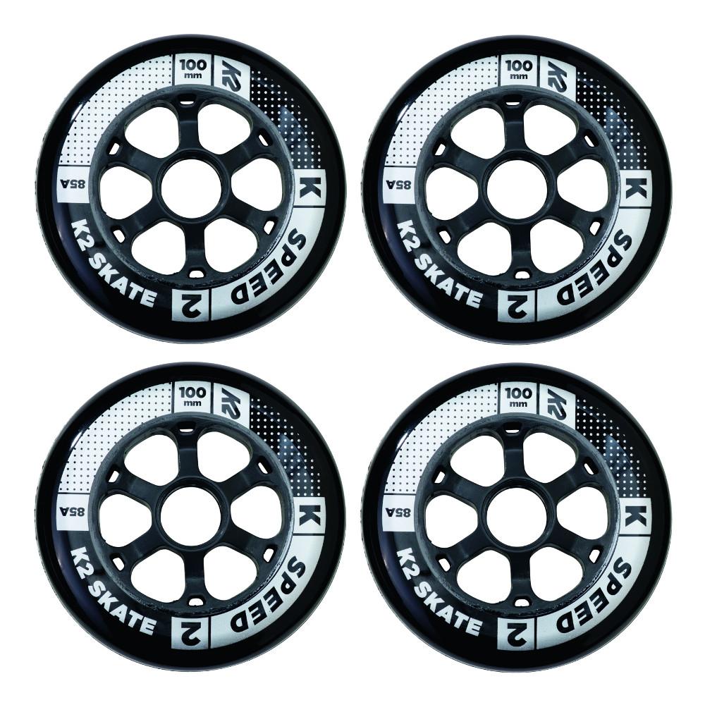 In-line kolečka K2 Speed 100 mm 4 ks