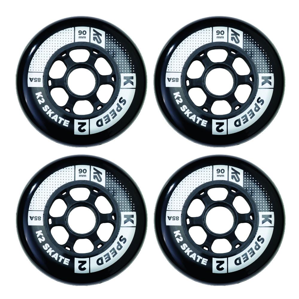 In-line kolečka K2 Speed 90 mm 4 ks