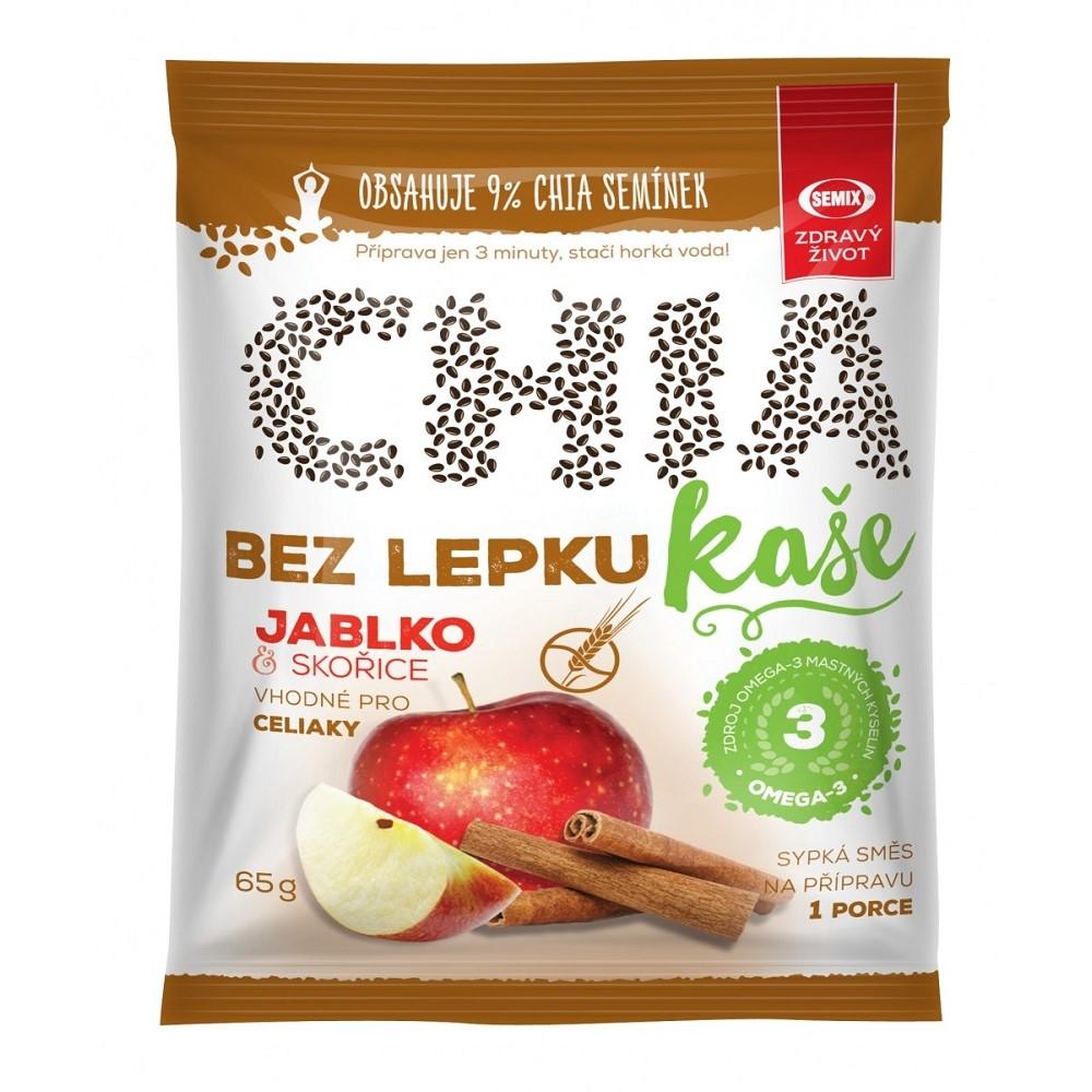 Chia kaše s jablky a skořicí bez lepku Semix