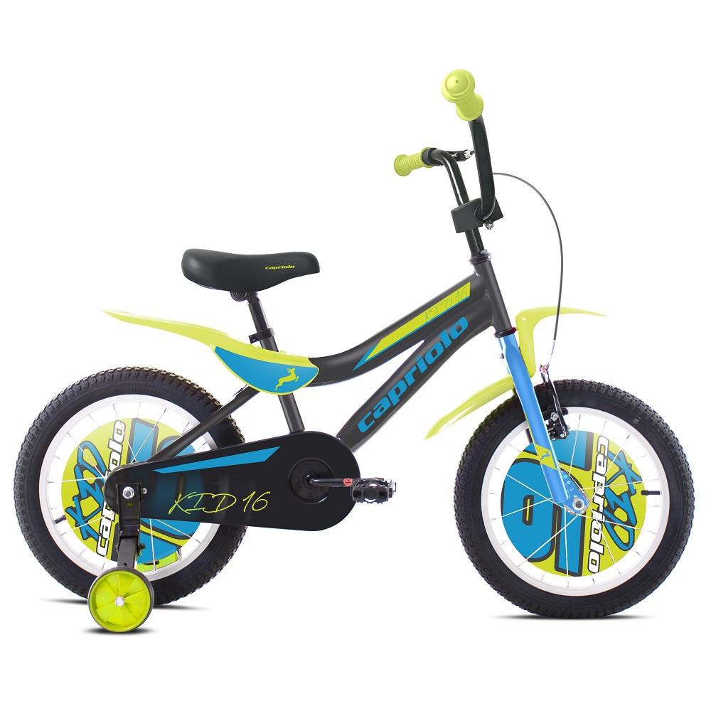 """Dětské kolo Capriolo Kid 16"""" - model 2020 šedo-modrá"""