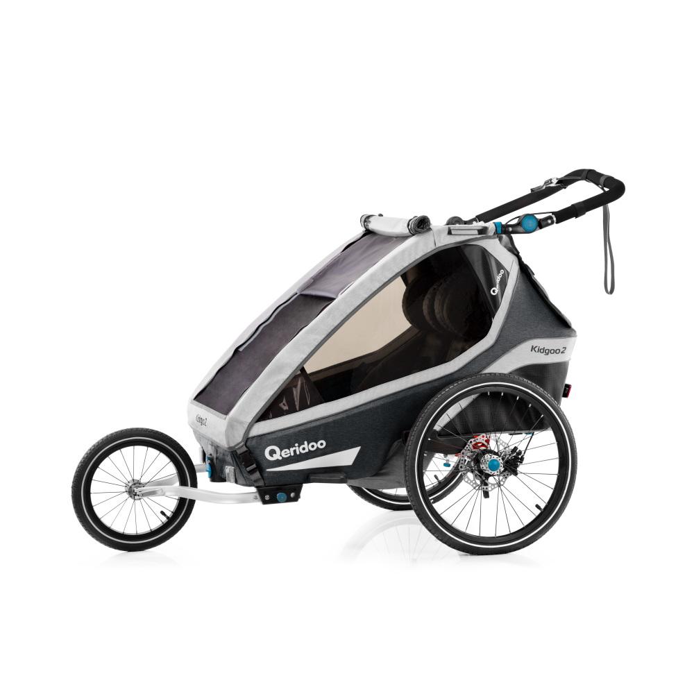 Multifunkční dětský vozík Qeridoo KidGoo 2 Pro  Anthracite Grey