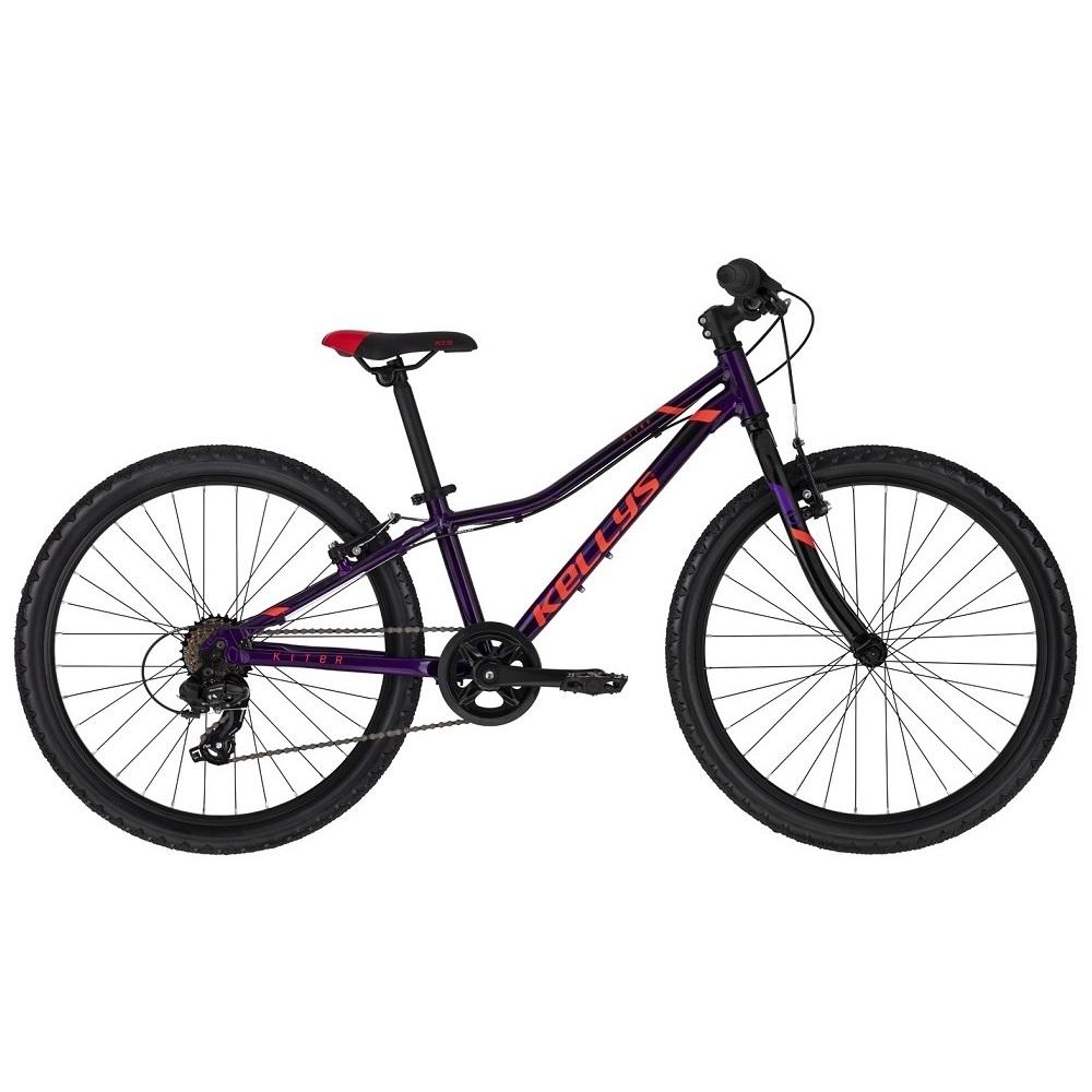 "Juniorské kolo KELLYS KITER 30 24"" - model 2020 Purple - 11"" - Záruka 10 let"