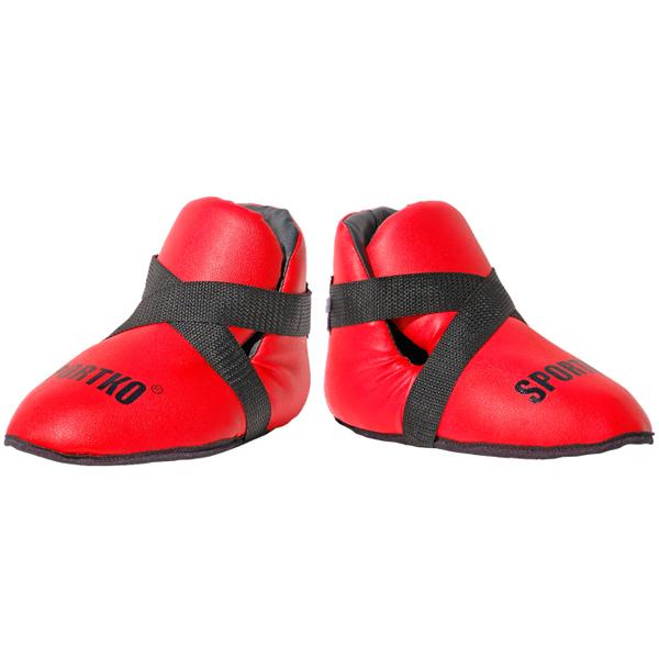 Chrániče nohou SportKO 333 červená - L