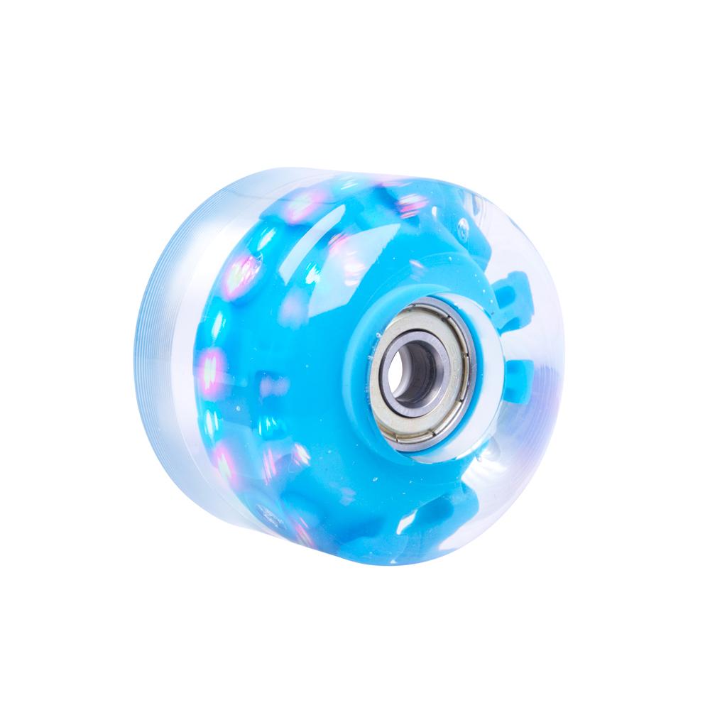 Svítící kolečko na skateboard PU 50*36 mm s ABEC 5 ložisky modrá
