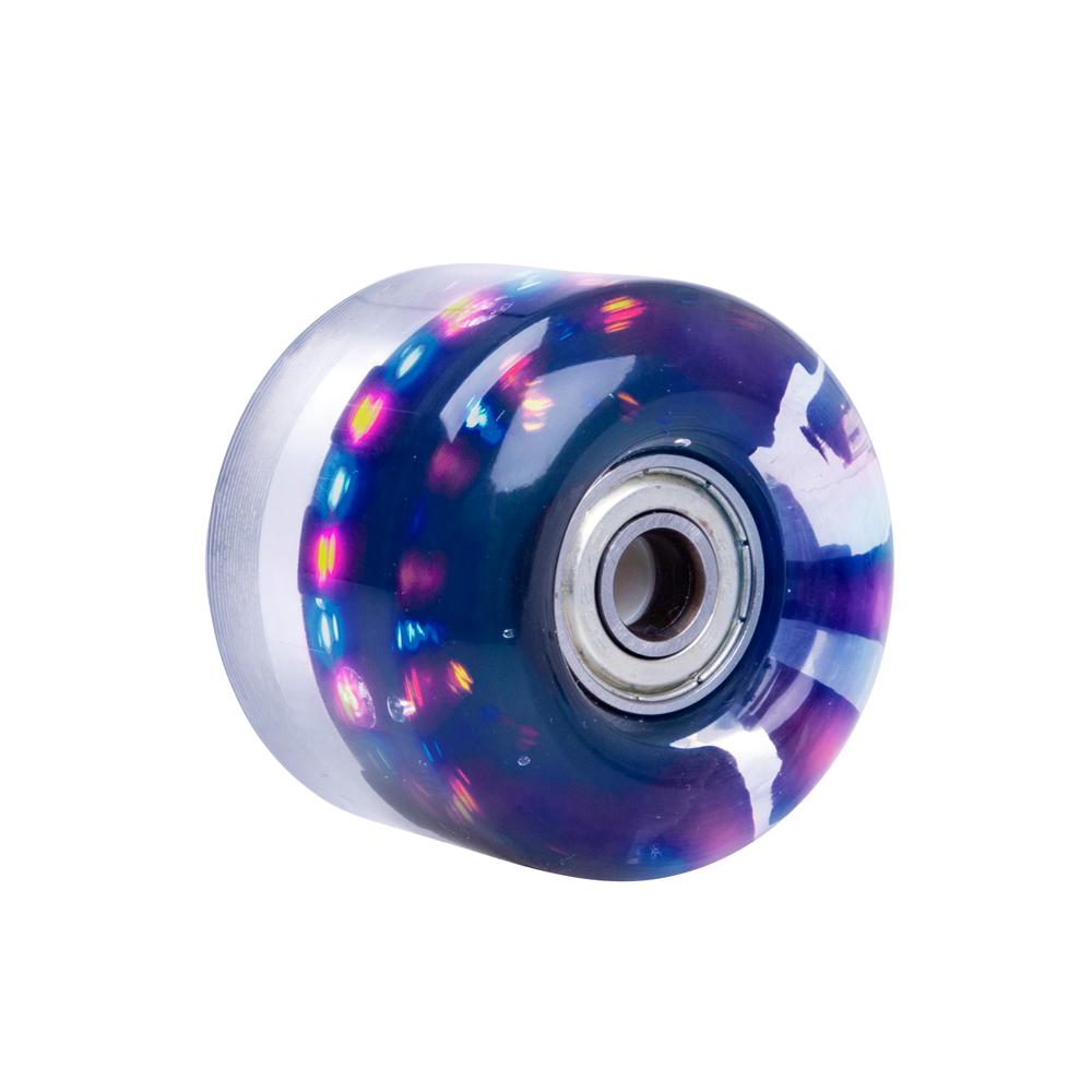 Svítící kolečko na skateboard PU 50*36 mm s ABEC 5 ložisky černá
