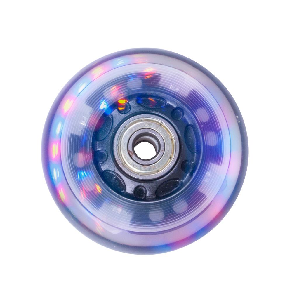 Svítící kolečko na inline brusle PU 72*24 mm s ABEC 5 ložisky černá