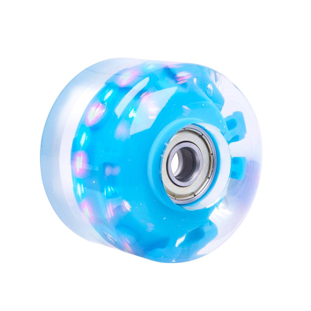 Svítící kolečko na skateboard PU 54*36 mm s ABEC 5 ložisky modrá
